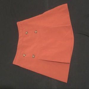 Mini contemporary circle skirt brick orange
